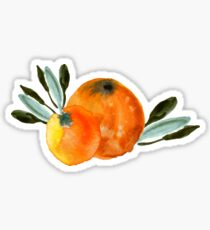 Sonnige Orange Sticker