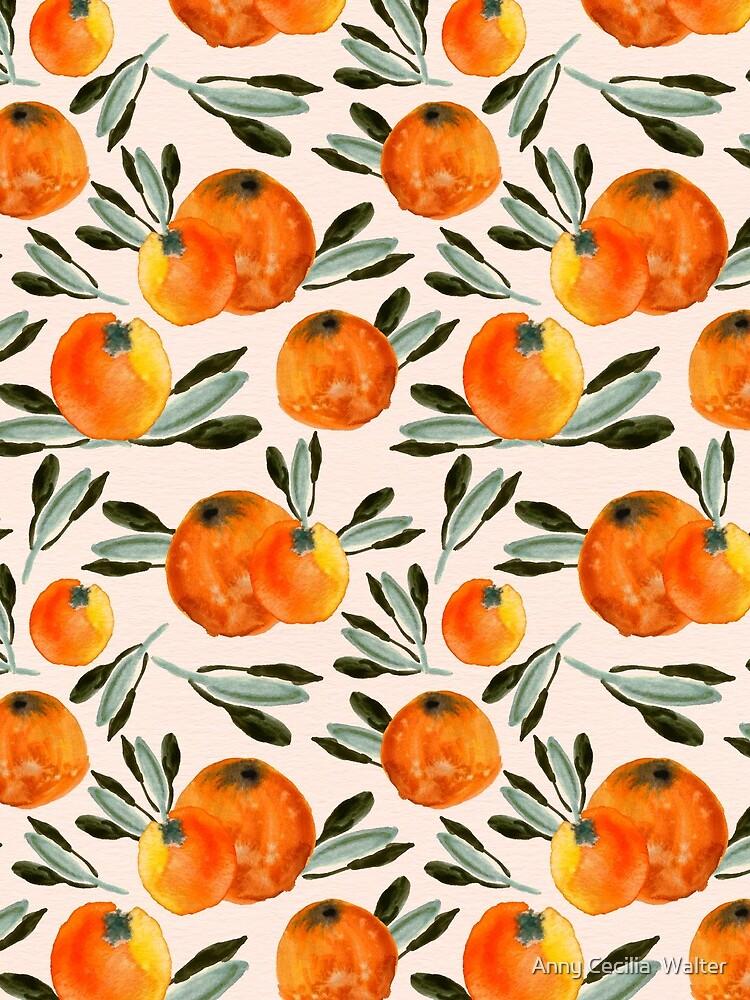 Sunny orange by AnnyCeciliaWalt