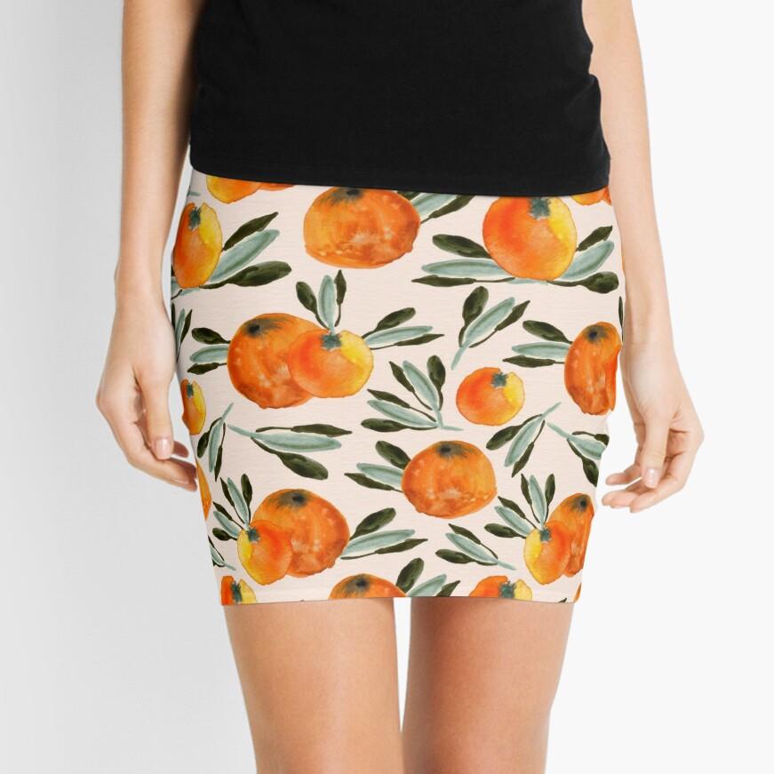 Sunny orange Mini Skirt