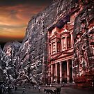 Jordan, Petra, The facade of the Treasury (El Khazneh) by PhotoStock-Isra