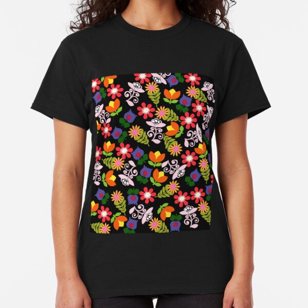 Funky 70s Flowers Classic T-Shirt