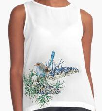 Grevillea spinosa & variegated fairy wren Contrast Tank