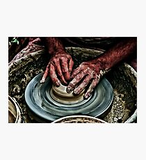 Hands of a potter  Photographic Print
