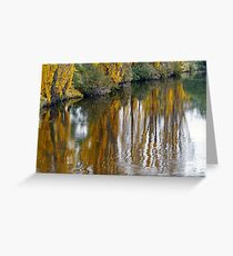 Autumn on the River Greeting Card