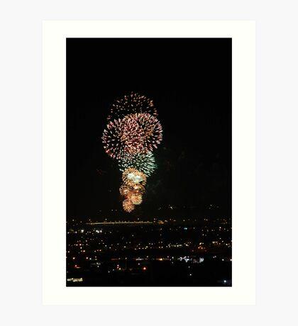 Australia Day Fireworks 2008  Art Print