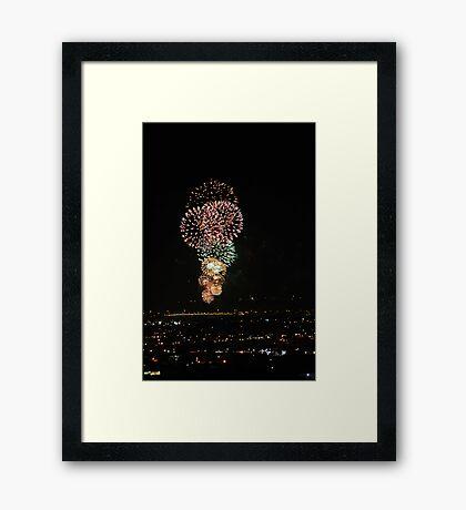 Australia Day Fireworks 2008  Framed Print