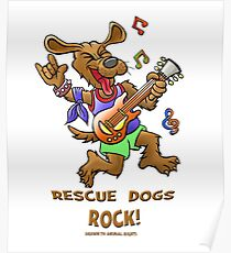 RESCUE DOGS ROCK  Poster