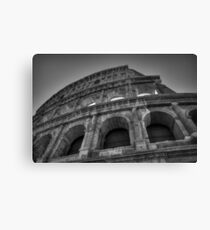 Rome - The Colosseum 003 BW Canvas Print