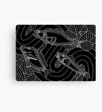 Aarli - (school of fish) monsoon season Canvas Print