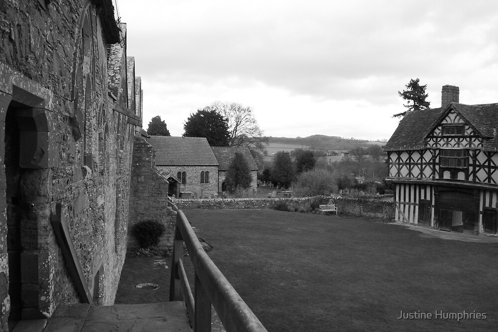 Stokesay - in Black & White by Justine Humphries