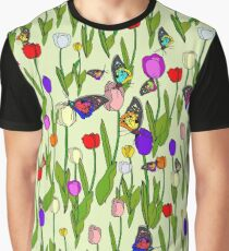 Floral Butterflies Graphic T-Shirt