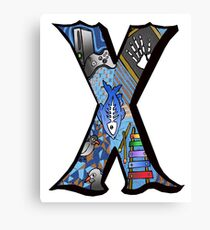 Doodle Letter X Canvas Print