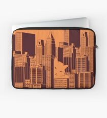 Cat in the Big City Laptop Sleeve