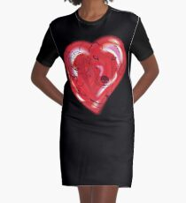 Wolves in Love Graphic T-Shirt Dress