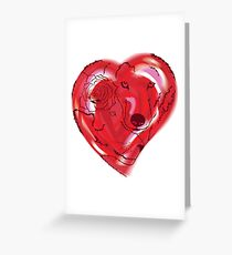 Wolves in Love Greeting Card