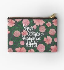 She Is Clothed In Strength And Dignity, Floral  Studio Pouch