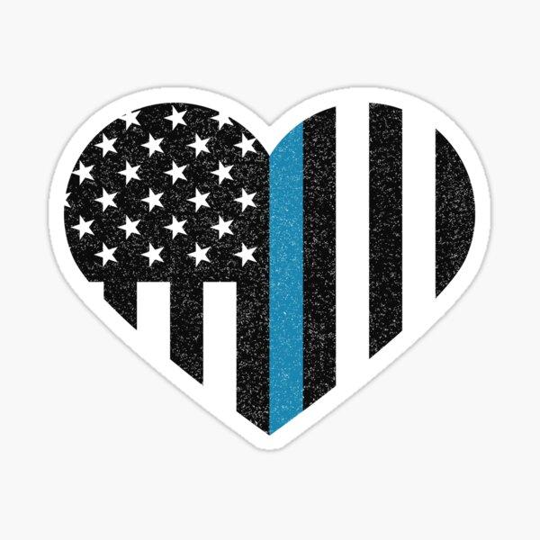 Thin Blue Line Flag Sticker
