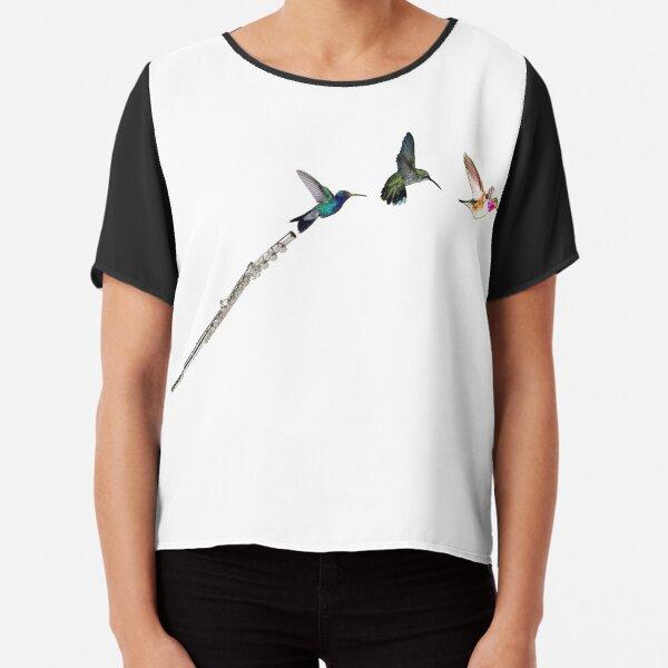 Hummingbird Flute Chiffon Top
