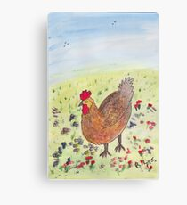 Egg laying Hen Canvas Print