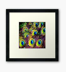 Blue Pac Man Framed Print