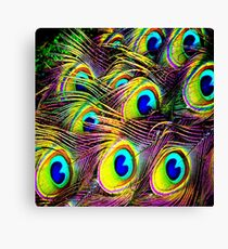 Blue Pac Man Canvas Print