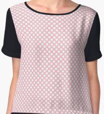 Rose Shadow Polka Dots Chiffon Top