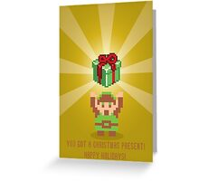 "The Legend of Zelda- ""You Got a Present!"" Greeting Card"