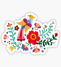 #RBSTAYCAY - PAINTED MEXICAN FLORAL EMBROIDERY  Sticker