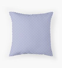 Deep Periwinkle Polka Dots Throw Pillow