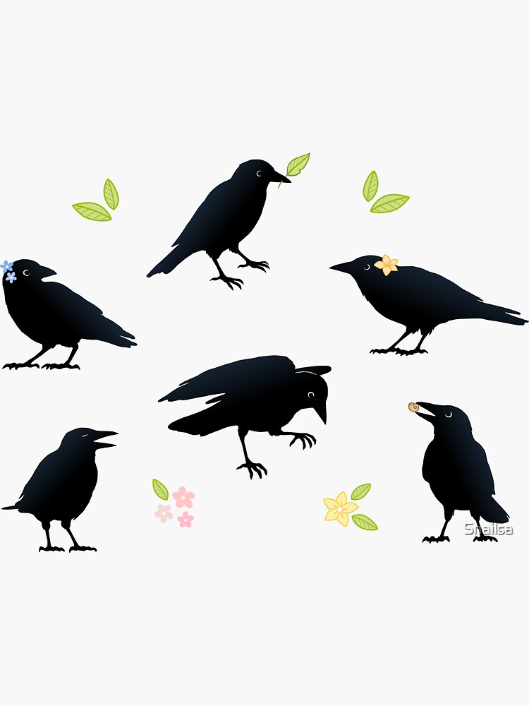 Playful crows by Snailsa