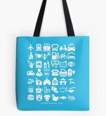 Medical Tourism Travel Icon Tote Bag