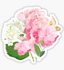 Spring delicate bouquets vector design objects. Pink rose, peony, orchid, yellow daffodil, hydrangea flowers, eucalyptus, blue berries, camellia. All elements are isolated and editable. Sticker