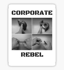 Corporate Rebel Sticker