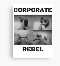 Corporate Rebel Canvas Print