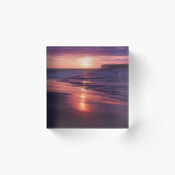 Beach Sunset Acrylic Block