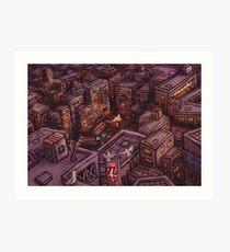 Slums of Kowloon Art Print