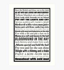 Diner Slang Art Print