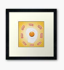 egg and bacon Framed Print