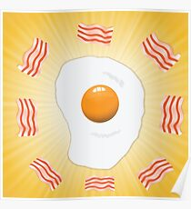 egg and bacon Poster