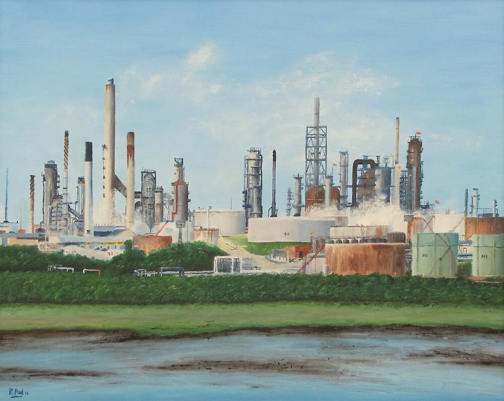 Fawley Oil Refinery by Richard Paul