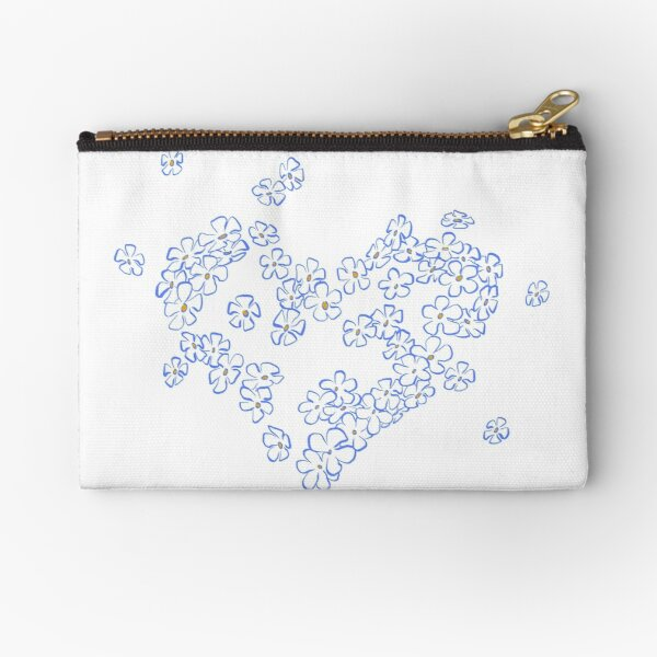 Forget-me-not Zipper Pouch