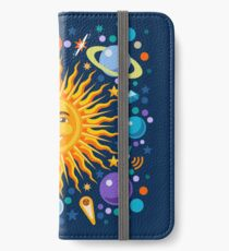 Solar System smiling sun universe iPhone Wallet/Case/Skin