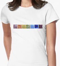 Rainbow - Abstract Salt Paintings Womens Fitted T-Shirt