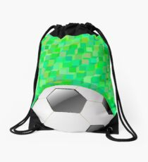 Colorful Illustration with Football Background for your Design. Drawstring Bag