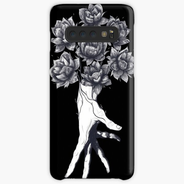 Hand with lotuses on black Samsung Galaxy Snap Case