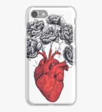 Heart with peonies iPhone Case/Skin