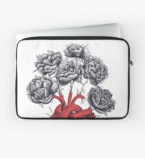 Heart with peonies Laptop Sleeve