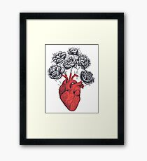 Heart with peonies Framed Print