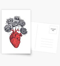 Heart with peonies Postcards