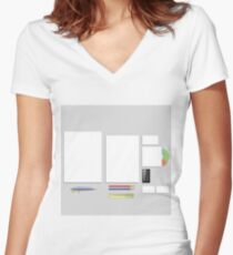 Office Supplies Womenu0027s Fitted V Neck T Shirt